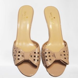 Kate Spade Mailyn taupe cut out bow sandals Sz 8
